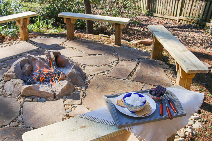 Fabulous Diy Built In Fire Pit Benches Pretty Handy Girl Caraccident5 Cool Chair Designs And Ideas Caraccident5Info