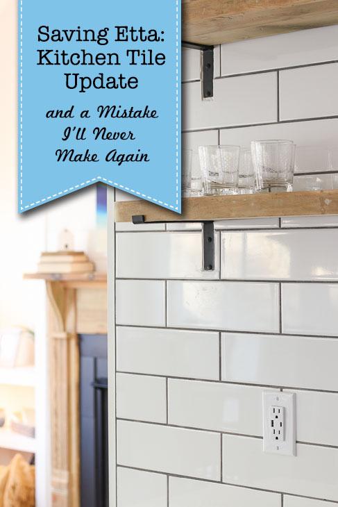 installing the tile backsplash a