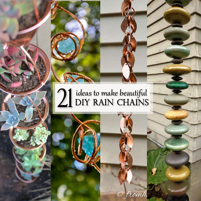 Beautiful ideas for DIY Rain Chains - Featured Image square