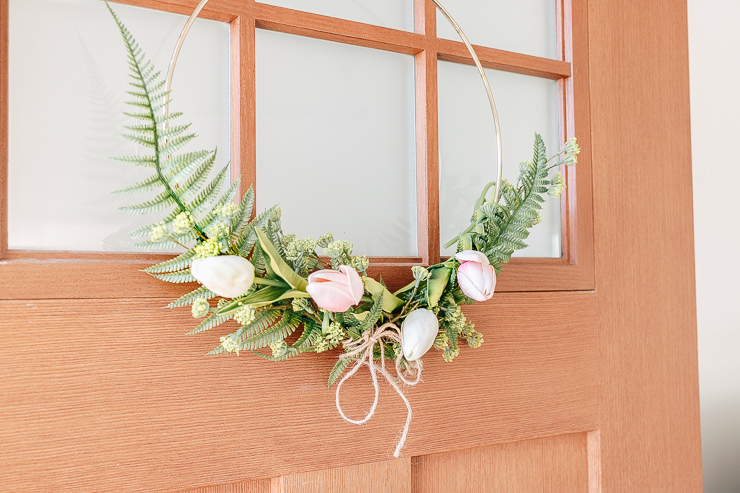 DIY Modern Hoop Wreath for Spring with Florals!