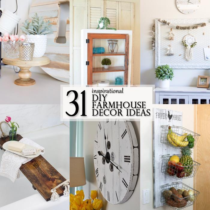 DIY inspirational Farmhouse Decor Ideas - Featured Image square