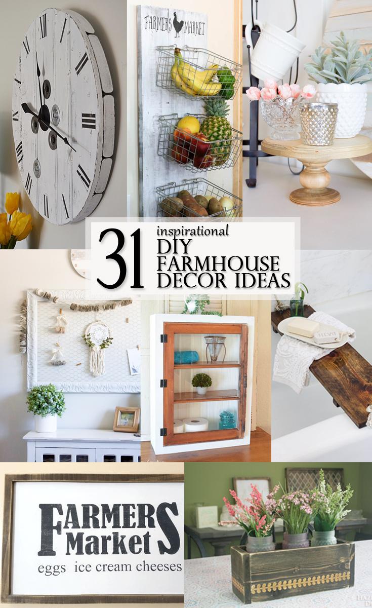 Inspirational DIY Farmhouse Decor Ideas - pinterest image