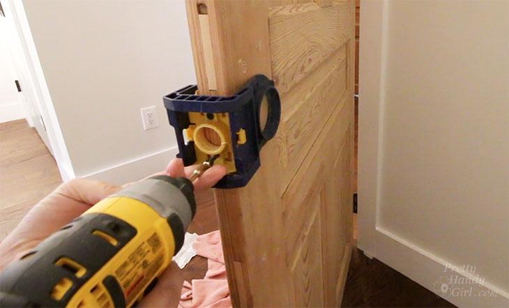 Removing Door Knob Hole Jig