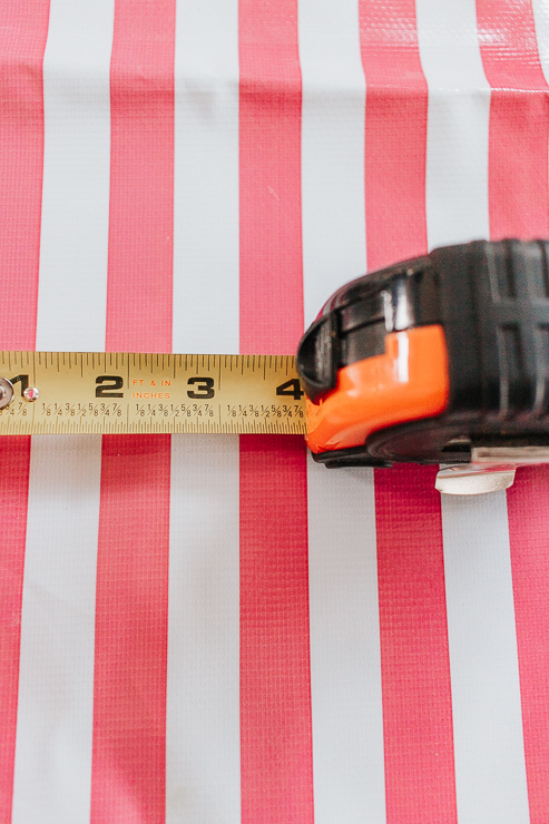 measure out your coasters using a tape measure or ruler