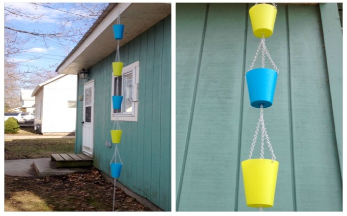 Dollar General Rain Chain buckets