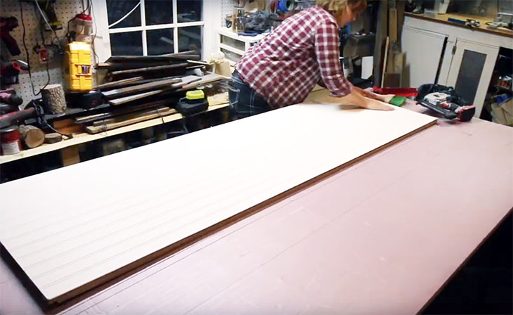 lay bead board on top of plywood
