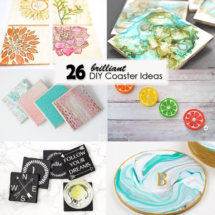 26 Brilliant Diy Coaster Ideas Pretty Handy Girl