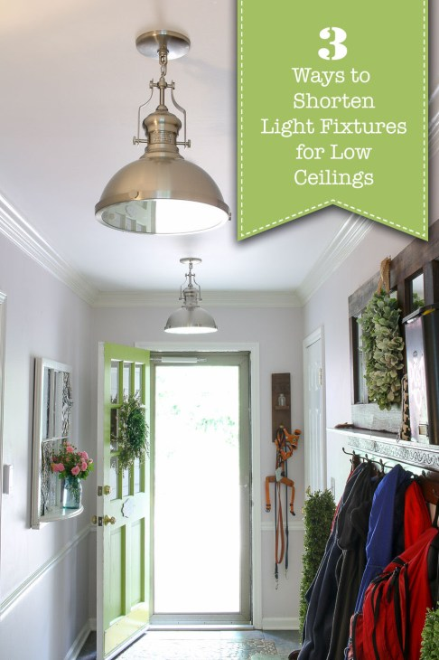 3 Ways to Shorten Light Fixtures for Low Ceilings