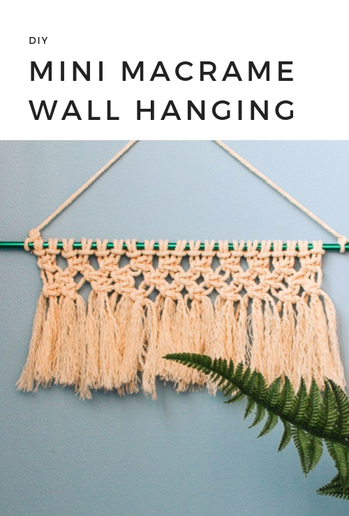 Learn how to make a mini macrame wall hanging - you can hang this anywhere and it only takes 20 minutes to make!