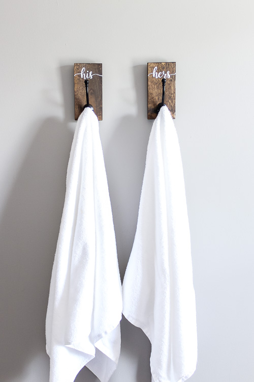 Diy His And Hers Towel Hooks Pretty Handy Girl