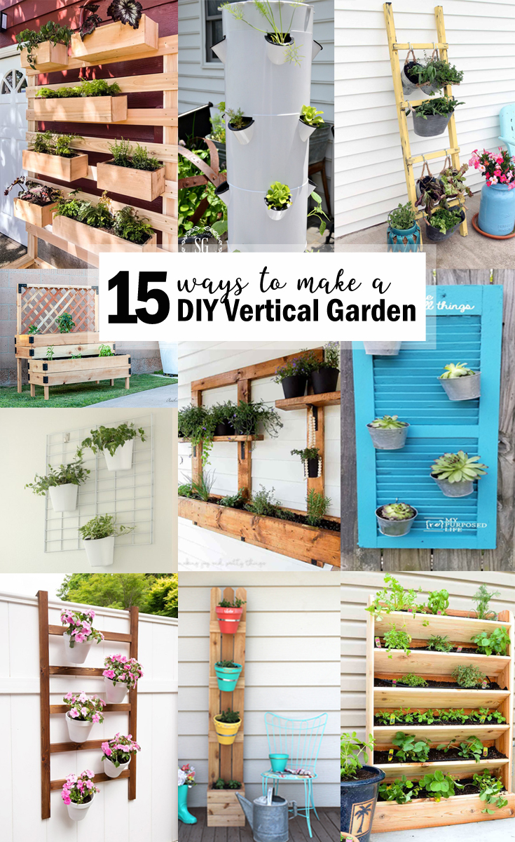 15 Ways to Make a DIY Vertical Garden