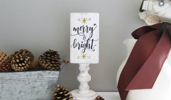 Merry and bright finished side
