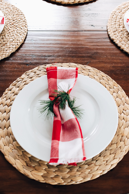 Greenery Napkin Ring DIY