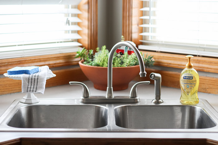 Clean and decluttered kitchen sink