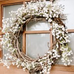 Spring Wreath hanging on front door