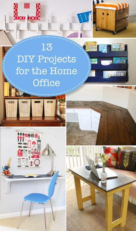 13 DIY Projects for Setting Up A Home Office