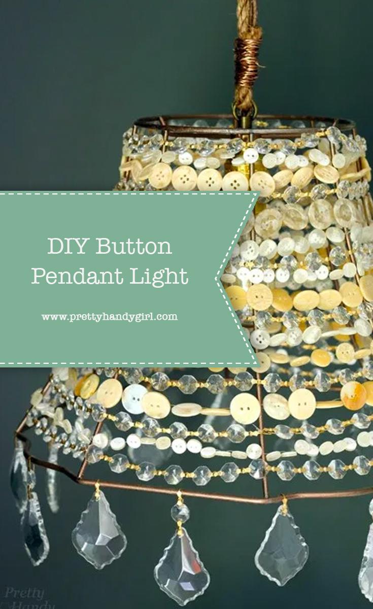 DIY Button Pendant Light