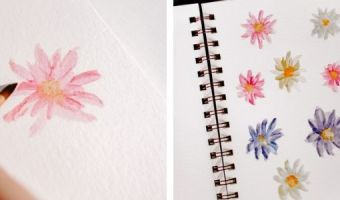 how to paint watercolor daisies