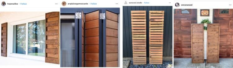 modern wood shutter inspiration