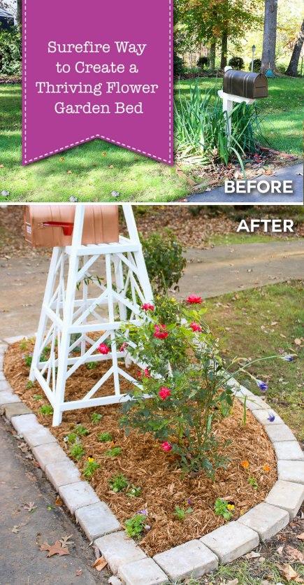 surefire way to create thriving garden flower bed