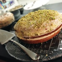 Pistachio Cake with Mascarpone Filling