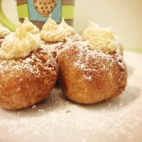 French Toast Doughnut Holes: Maple Buttercream Filling