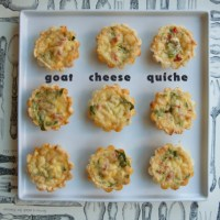 Goat Cheese Quiche Tartlets