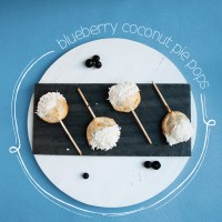 Blueberry Coconut Pie Pops