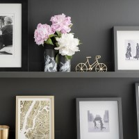 DIY Black & White Flower Vases