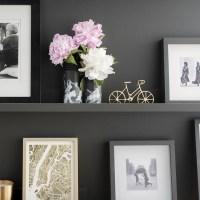 DIY Black & White Flower Vases
