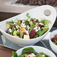 Spinach and Arugula Salad with Petit Billy Goat Cheese