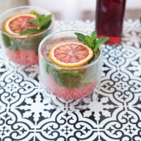 Blood Orange and Pomegranate Mojito