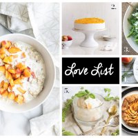 Love List 6/20/18: Recipes with Peaches