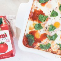 Italian Baked Eggs with Turkey Sausage