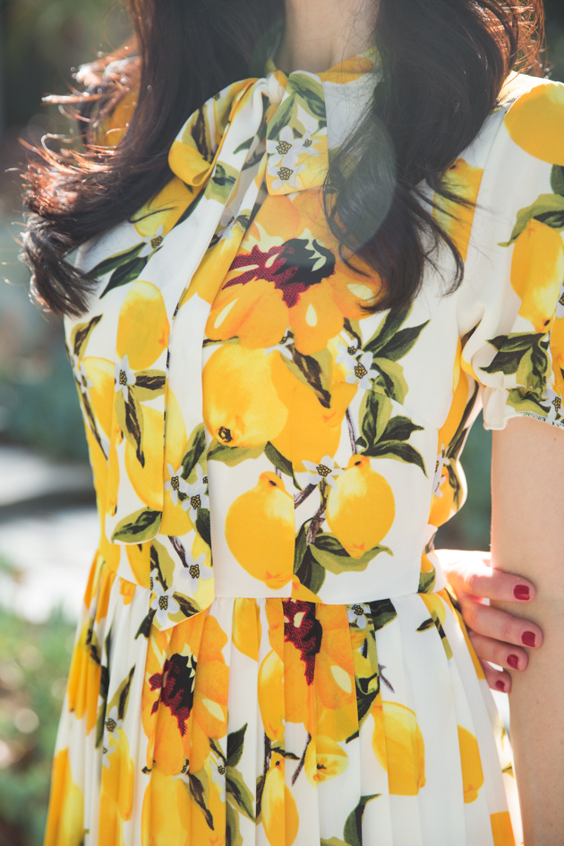 Shein Lemon Print Dress
