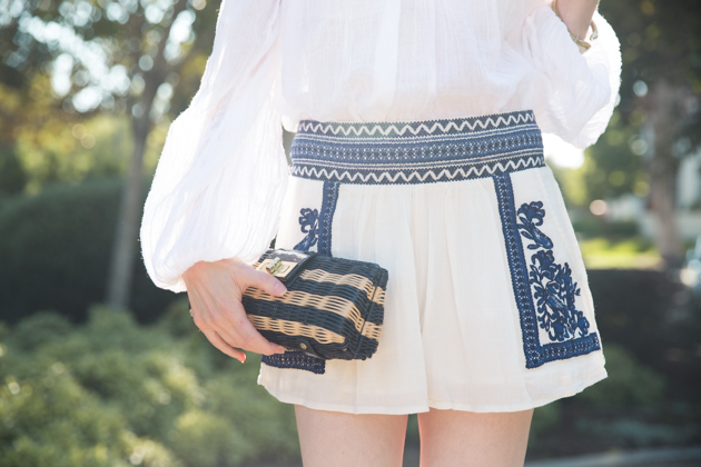 Denim and Supply Boho Embroidered Shorts
