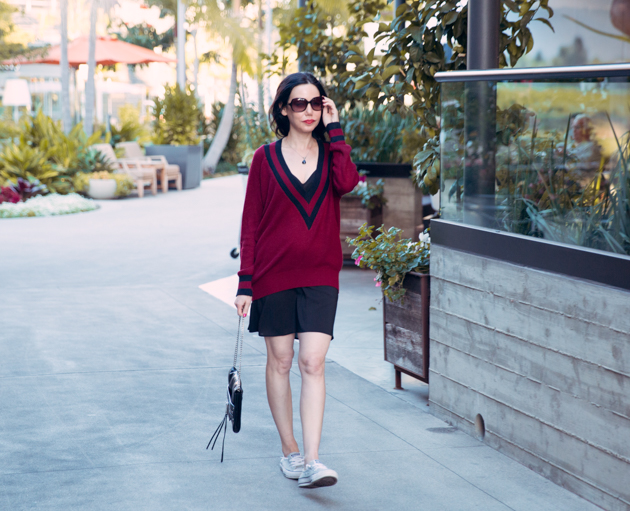 Slip Dress and Sneakers