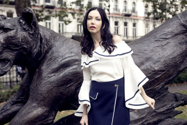 Storets Off the Shoulder Blouse and Skirt in Belgravia