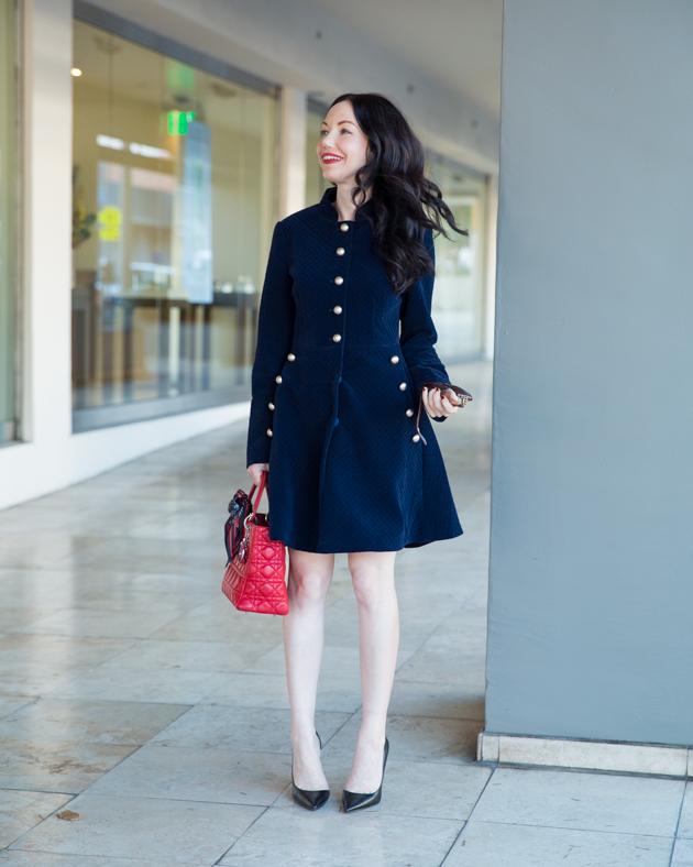 StyleWe Velvet Coat Dress