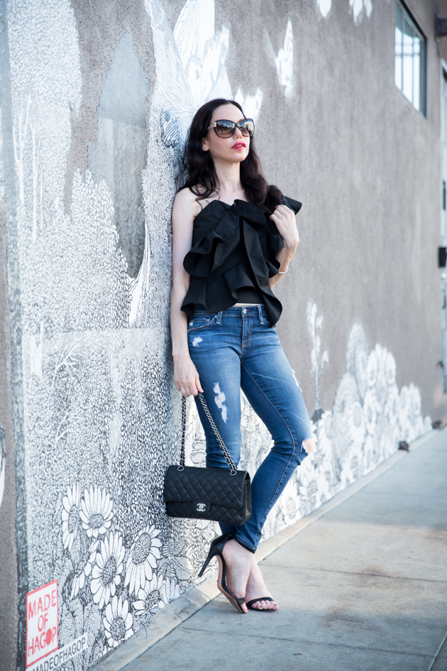 How to Style a Ruffle Top - Pretty Little Shoppers Blog