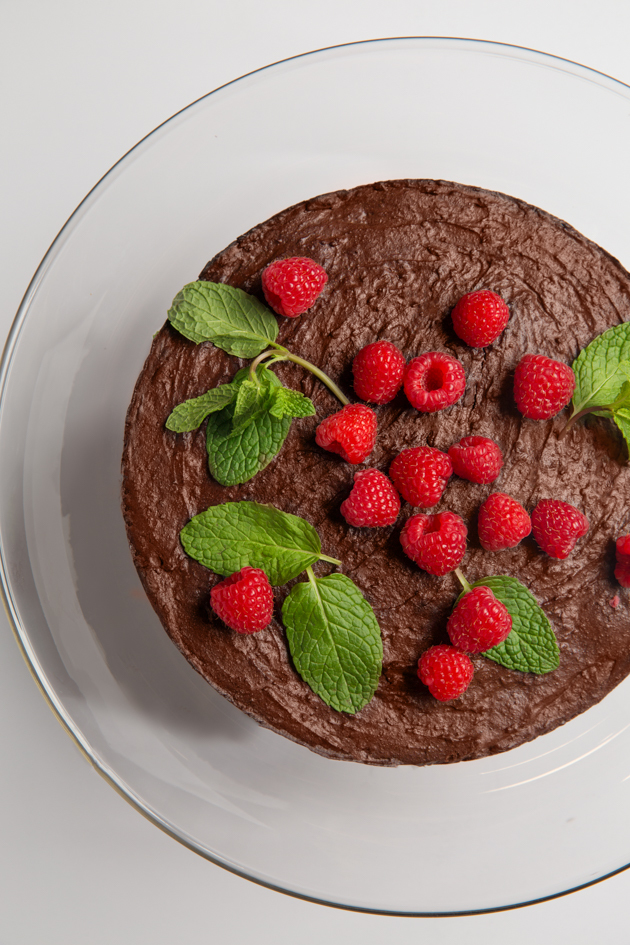 Gluten-Free Double Chocolate Kahlua Cake
