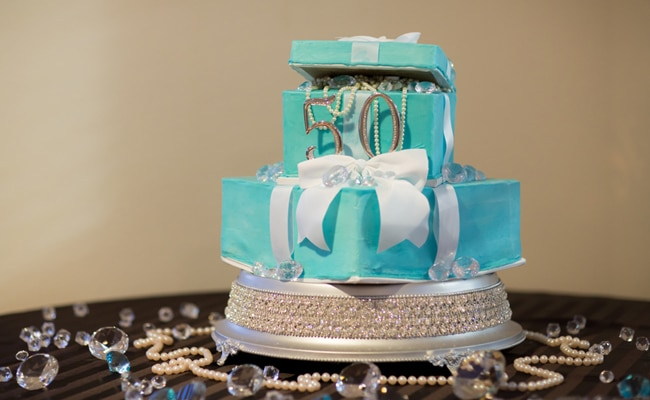 Tiffany Inspired 50th Birthday Party Pretty My Party