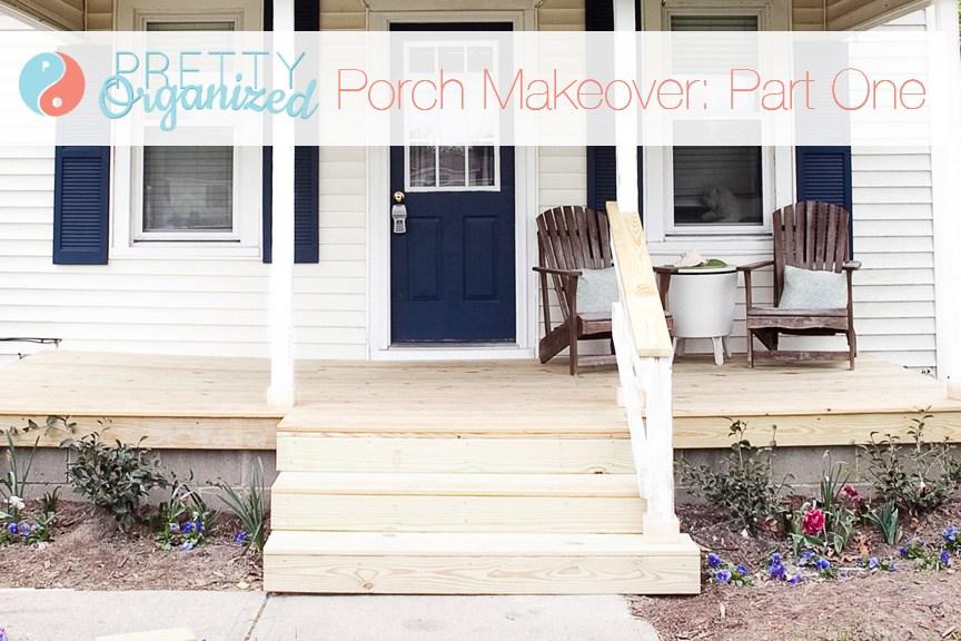 Diy Porch Update A Pretty Porch For Pennies How To Organize | Railing For Concrete Porch | Residential | Paver Patio | Hand | Flagstone Porch | Repair