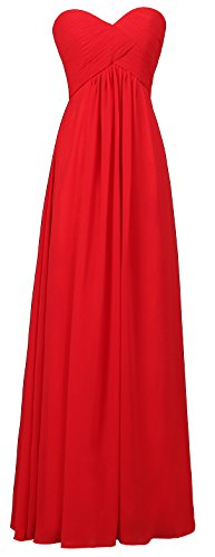 Ouman Women's Sweetheart Bridesmaid Long Evening Gown