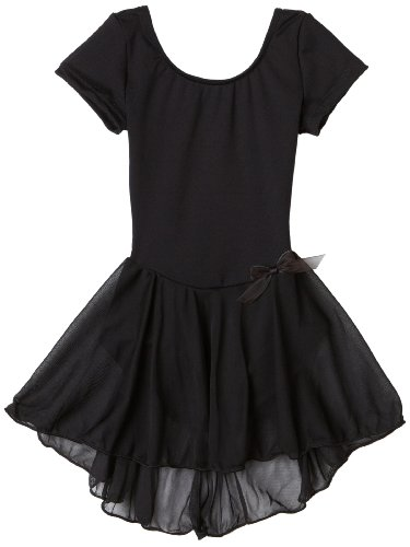 Capezio Girls' Short Sleeve Nylon Dress
