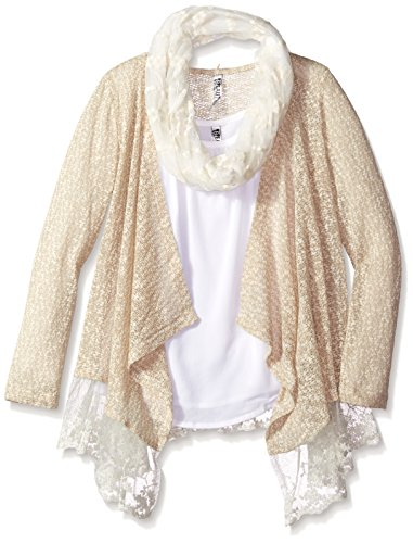 Beautees Big Girls' Cozy with Layering Tank with Scarf