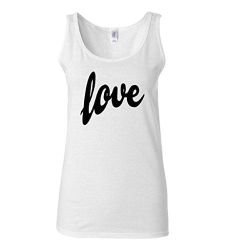 Raxo Women's Love Tank Top Black Logo Romantic Valentine's Day Gift Sexy Tank