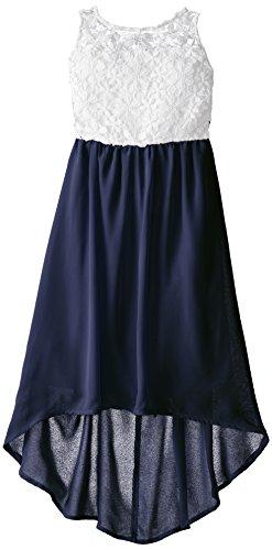 BTween Big Girls' Crochet To Chiffon High Low Dress