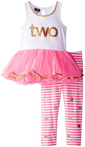 Mud Pie Little Girls' I'm Two Tunic and Legging Set