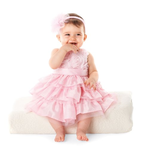 Mud Pie Baby Girls' Rosette Layered Dress